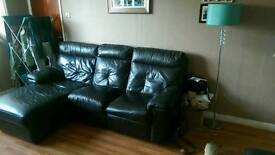 2 piece brown leather suite for sale.