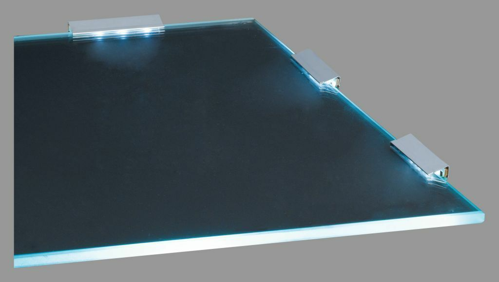 8er Set LED Glasbodenbeleuchtung Glaskantenbeleuchtung kaltweiß Set Neu