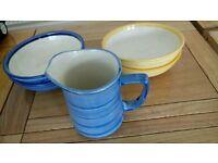 4 Bowls & jug