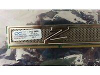 OCZ 1GB DDR2 PC2-6400 800MHz RAM Memory