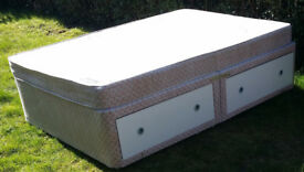 Double Divan 4 Draw Bed with Mattress.