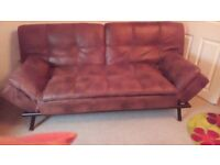 As new lovely soft leather sofa bed only a couple of months old