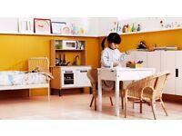 GORGEOUS IKEA SUNDVIK - CHILDS DESK IN WHITE WASHED WOOD - EXCELLENT - JUST £22.50 - HUGE BARGAIN