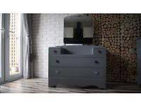 DRESSING TABLE WITH MIRROR, SIDEBOARD, DRAWERS,SHABBY CHIC, VINTAGE,solid wood (free delivery)
