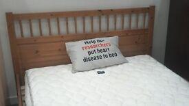 Kingsize wooden bedframe - British Heart Foundation
