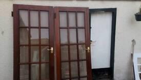 Hard Wood Interior Doors x 2
