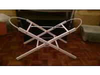 Baby wooden Crib Stand in white ( bed cot ) Good Condition