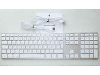 Apple A1243 Wired USB Keyboard with Numeric Keypad for Mac - UK Layout (MB110B/B).