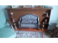 Teak Fire Surround and Display Unit