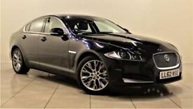 JAGUAR XF 2.2 D PREMIUM LUXURY 4d AUTO 200 BHP + 1 OWNER + S (black) 2012