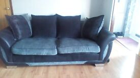 3 seater sofa & Cuddler swivel chair 12 months old DFS Shannon range Excellent condition