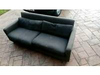 Habitat grey sofa. Free to collector.