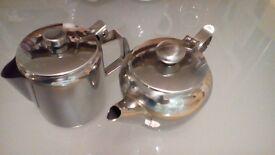 8 Stainless Tea + Coffee Pots