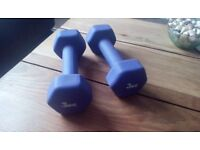 Pair of dumbbells 1.5 kgs and 3kg wts