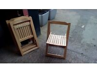 Folding wooden chairs good condition