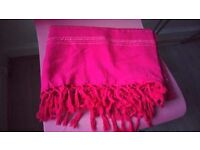 Pink and Red BED THROW 100% cotton from Ikea,Ideal for a sofa / couch / bed / divan, good condition