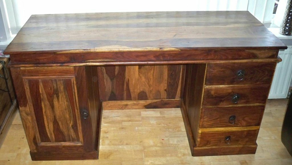 Fabulous Sheesham Indian Wood Desk In Andover Hampshire