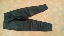 Leather Motorbike Trousers/Jeans in New Condition. Size 34 waist