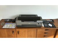 Epson Stylus R1800 Photo Inkjet Printer A3 - Hardly Used - working but needs nozzle/head clean