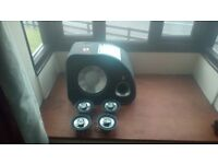 fli trap subwoofer with built in amp plus 4 fli trap speakers