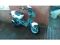 Italjet dragster 50 1999. White .Manchester.