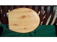 Toilet Seat, wooden soft close ,pine