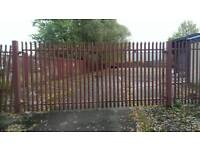Metal gate and fence Glasgow 2 gates with slip bolt