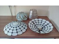 4 Glass and Shell Lampshades