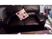 Quality beautiful 2 seater italian leather sofa