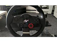 Logitech Driving Force GT Steering Wheel & Pedals