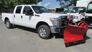 2015 Ford F-250 Crew Cab 4x4 Gas Short Box with brand new V plow