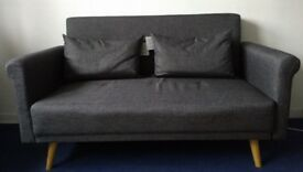 Two seater fabric sofa- Charcoal