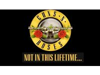 2 Guns n Roses tickets Saturday 17 June London Olympic Stadium