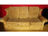 Large three seater sofa - very good quality and very comfortable - free to collector l