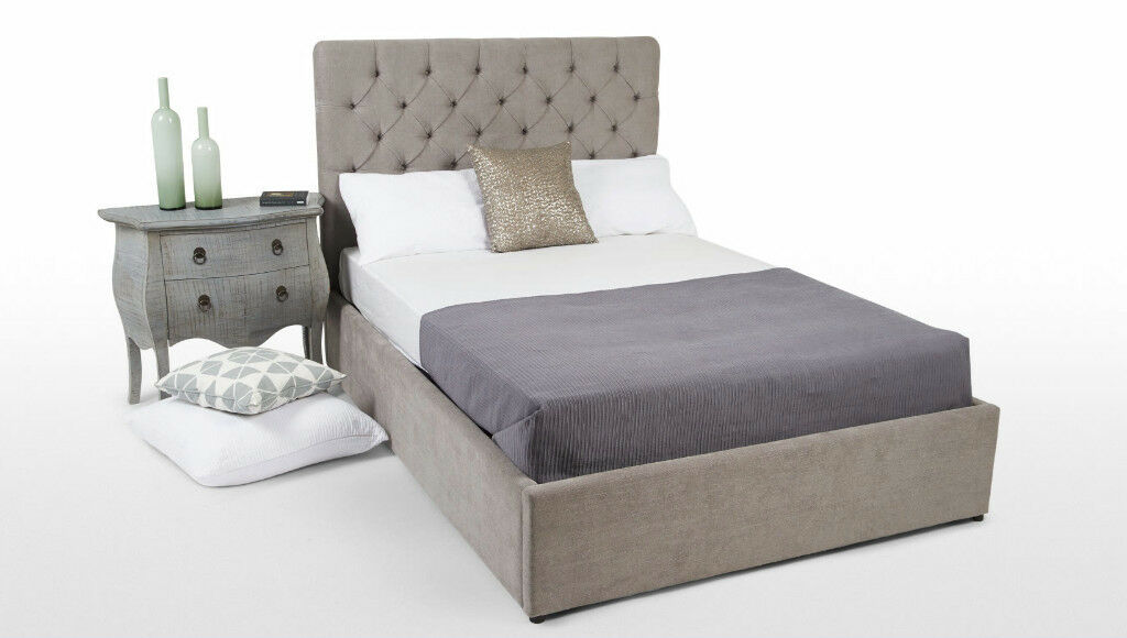 50889ad0b82a Made com Skye Owl Grey King size bed with storage - AS NEW | in ...