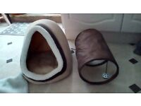 Cat bed, cat radiator bed and toy tunnel