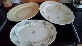 3 Vintage Platters