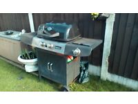 Anthony Warrell Thompson Gas BBQ with side burner for a pan and gas bottle. Good working order. £85