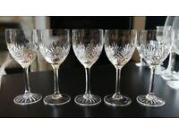 ROYAL SCOT CRYSTAL - Edinburgh Crystal - 5 x Crystal Wine Glasses
