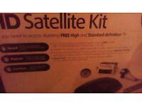 HD satellite rreciever dish and remte new