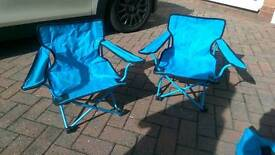 X2 children's camping chairs