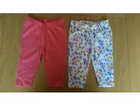 Baby clothes girl 0-3 months Lily & Dan 2 pairs leggings