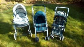 3 Dolls prams £10 each