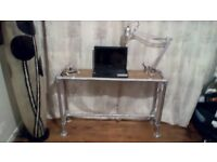 Industrial furniture laptop desk hand made very heavy