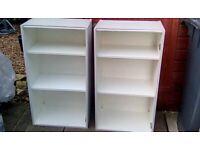 Freestanding pair storage units.