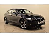 BMW 3 SERIES 2.0 318D SE 4d 141 BHP ONLY 1 PREVIOUS OWNER (black) 2012