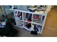 Ikea kallex white shelving unit