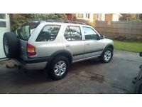 SELLING OUR VAUXHALL FRONTERA LIMITED DTI ESTATE