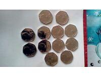 Jemima puddle duck 50p beatrix potter 2016 coins