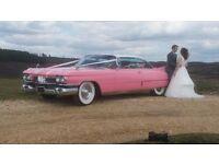 Wedding Car Hire 1959 Classic Pink Cadillac